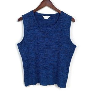 Exclusively Misook Blue Marled Tank   L